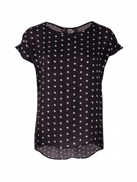 Saint Tropez Sharon small dot top - Navy