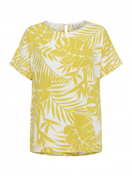 One Two Luxzuz Brunhild top - Yellow leaves