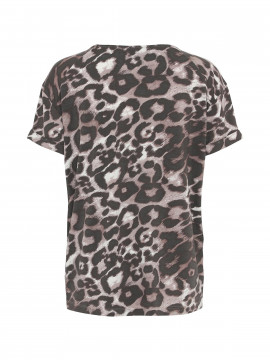 One Two Luxzuz Karin Leo Tee - Vintage rose