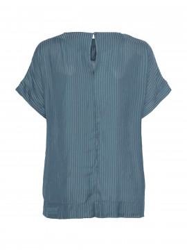 One Two Luxzuz Frances top - Steel blue