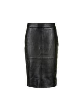 Depeche Paris long leather skirt - Black