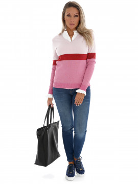 Continue Bodil shine knit - Rose combi